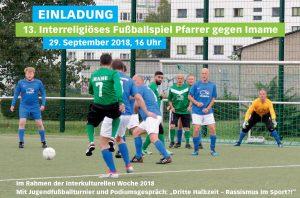 13. Interreligiöses Fußballspiel Pfarrer gegen Imame