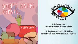 Eröffnung der 45. Interkulturellen Woche Berlin 2021